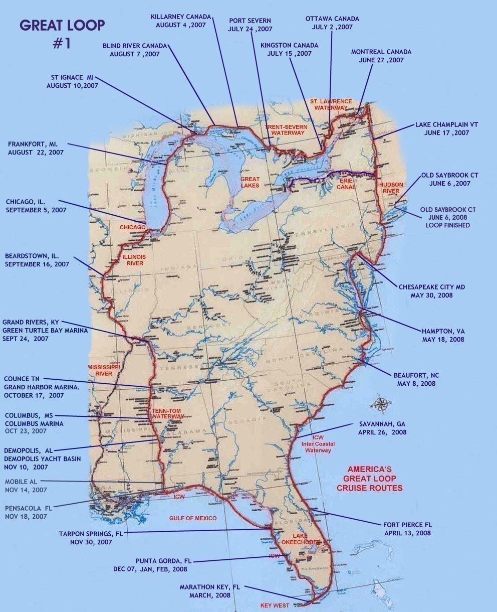 the great loop map adriftskateshop